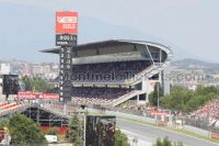 Tribune principale, GP Barcelone<br />Circuit de Catalogne Montmelo<br />Grand Prix de Catalogne motos